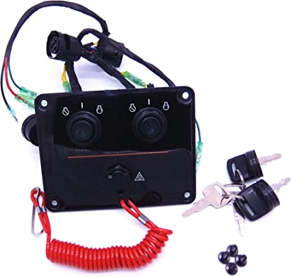 Dual Key Switch Panel Twin Switch 12V For Yamaha Outboard Engine 6K1-82570-13-00