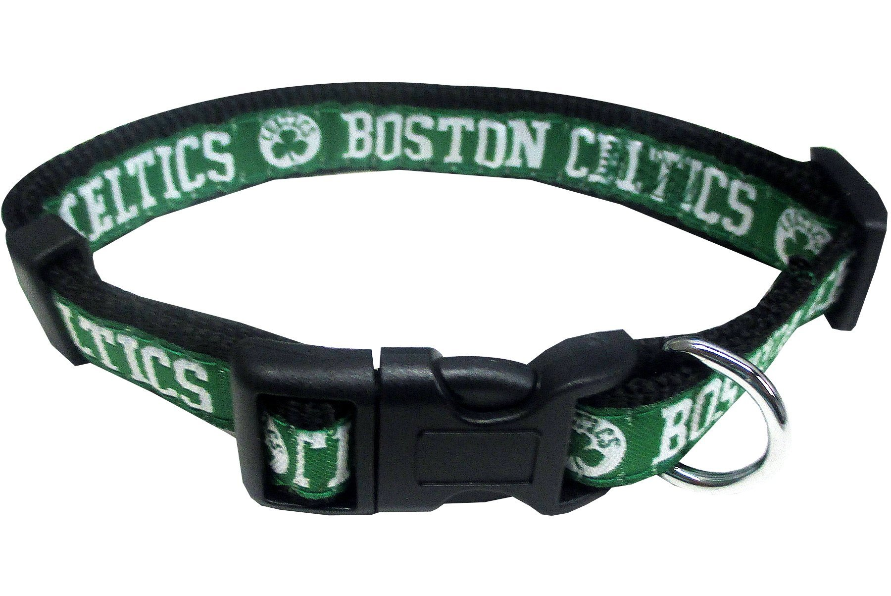 NBA BOSTON CELTICS Dog Collar, Size Large. Best Pet Collar for all Sports Fans by Pets First