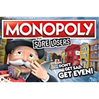 Monopoly For Sore Losers Board Game - the game where it pays to lose - 2 to 6 players - Family Board Games - Ages 8+