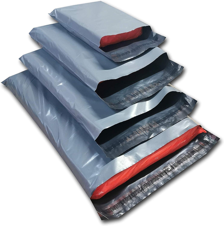 ODL Packaging Ltd - Pack de 100 bolsas para envíos por correo, plástico gris, tamaños variados