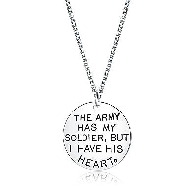 Amazoncom Majesto Inspirational Necklace For Women Teen Girls Army