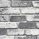"Symoden Brick Wallpaper 15.8"" x 78.8"" Brick Peel and Stick Wallpaper Faux Brick Textured Wallpaper Removable Self…"
