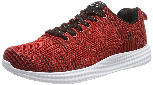 low priced cfd9b 13bde Herren Männer Laufschuhe Sneaker-Sportschuhe 168 Rot, Gr.- 38  EU Herstellergröße