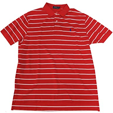 c2b7bdaef3 Image Unavailable. Image not available for. Color: Polo Ralph Lauren Men's  CLassic Fit Shirt, Size XL,Red/White Stripes