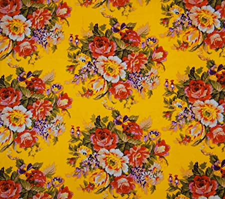 Knitwit Cotton Fabric Floral Print Craft Material 45\