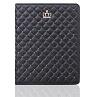 iPad 6th Generation Case,elecfan Full Body Protective Case Folio Book Cove with Little Crown Decoration