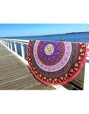 Indian Mandala redondo Roundie Beach manta tapiz Hippy Boho Gypsy algodón mantel toalla de playa,