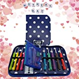Crochet Hook Set with Ergonomic Crochet Hooks for Ultimate Comfort-Crochet for Longer with No Hand Pain! Crochet Kit with Sturdy Case, 9 Crochet Needles & 22 Accessories to Stay Organized. Ideal Gift!