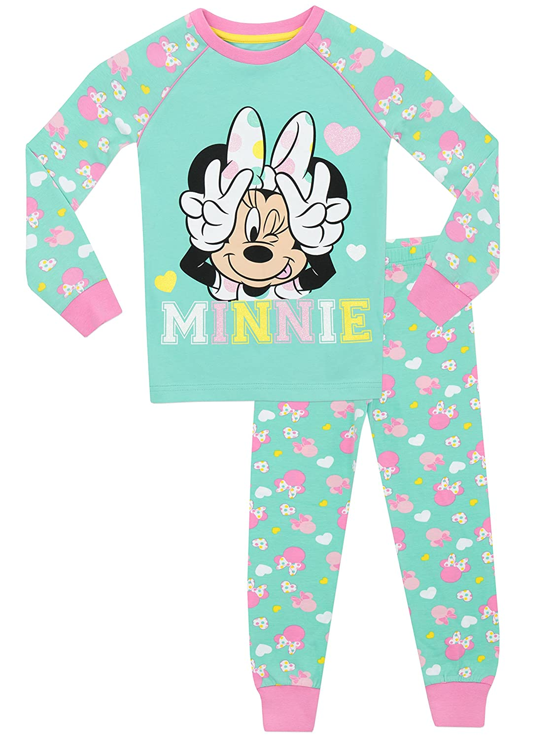 ffd570e451 Pijamas enteros nombre en ingles. Disney Minnie Mouse - Pijama para niñas -  Minnie Mouse - Ajust Ceñido  Amazon.