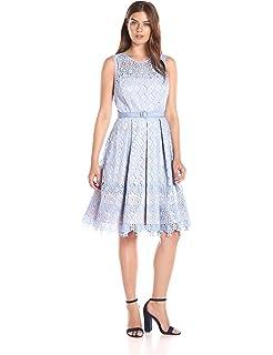 f2279e02af Eliza J Women's Bell Sleeve Lace Dress, Ivory 8 at Amazon Women's ...