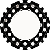 Black Polka Dot Paper Plates, 8ct