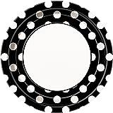 Black Polka Dot Paper Plates, 8ct