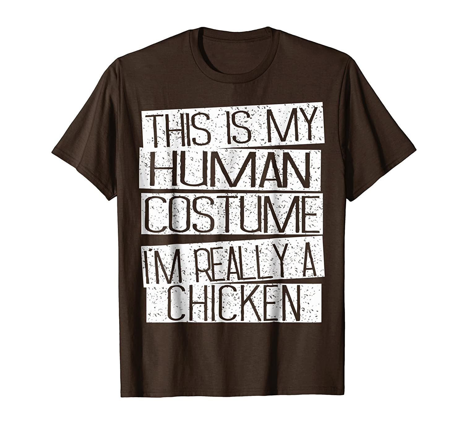Funny Halloween Costume Shirt - I'm Realy A Chicken Shirt-ANZ