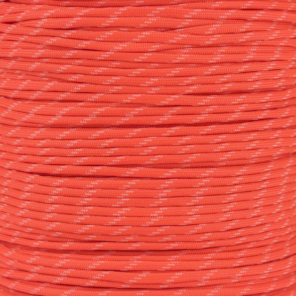 PARACORD PLANET Mil-Spec Commercial Grade 550lb Type III Nylon Paracord Reflective Tracer or Glow in The Dark Tracer Colors
