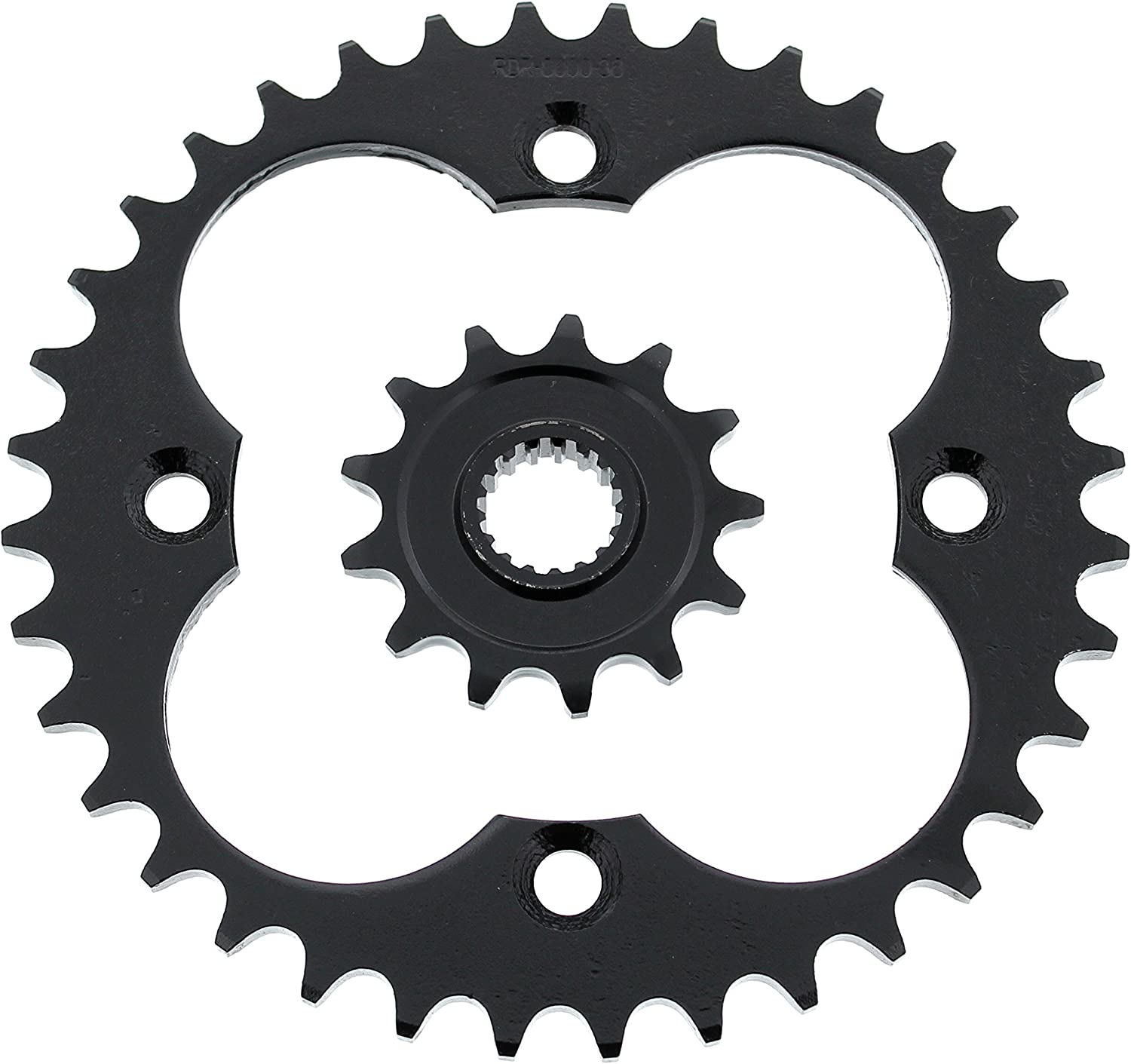 2004 2005 Fits Honda TRX450R 13 Tooth Front /& 36 Tooth Rear Silver Sprocket
