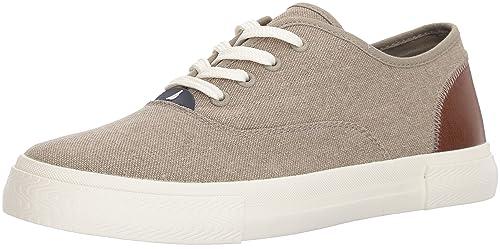 Mens Deckstyle Sneaker, Blue Chambray, 9.5 Medium US Nautica