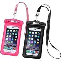 Azusa IPX8 Waterproof Phone Case (Pink & Black)