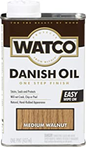 Watco 65951 Danish Oil Wood Finish, Pint, Medium Walnut