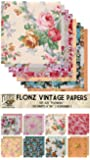 "Paper Pack (24sh 6""x6"") Flower Bouquet FLONZ Vintage Paper for Scrapbooking and Craft"