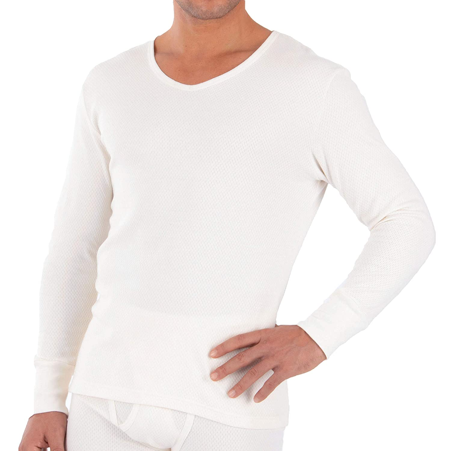 Cottonique Hypoallergenic Mens Thermal Long Sleeve