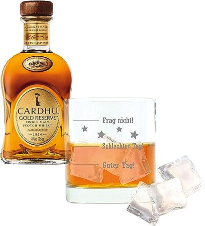 Cardhu Whiskey 715226 Gold Reserve, Single Malt, Whisky, Scotch, Alcohol, Alokoholgetränk, Botella, 40%, 700 ml, Regalo para el día del Padre, con graviertem Vidrio