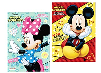 disney mickey and minnie mouse coloring book set with tear and share pages - Minnie Mouse Coloring Book