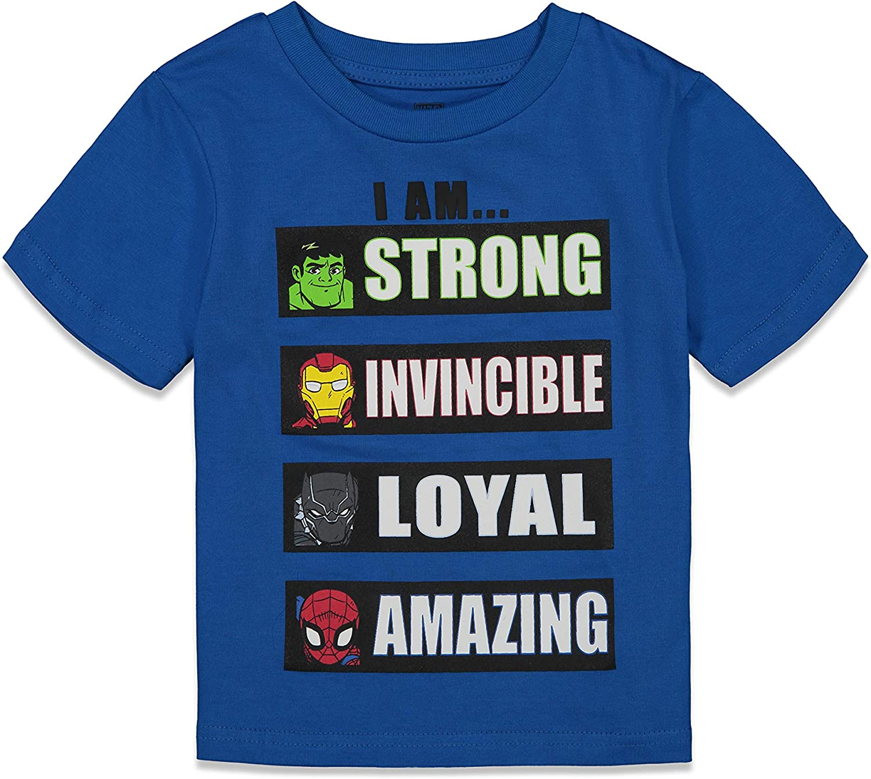 Marvel Avengers Boys Superhero Short Sleeve T-Shirt and Mesh Shorts Set