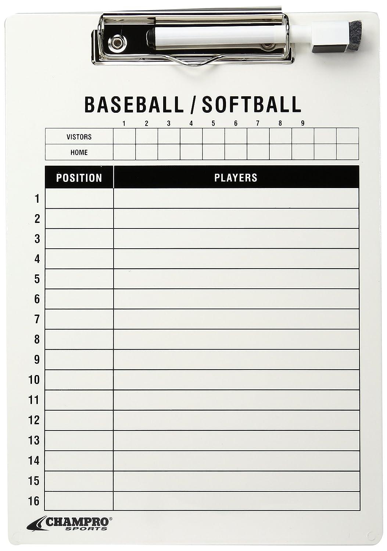 Champro Baseball/Softball Board (White, 12 x 9-Inch) A099BS