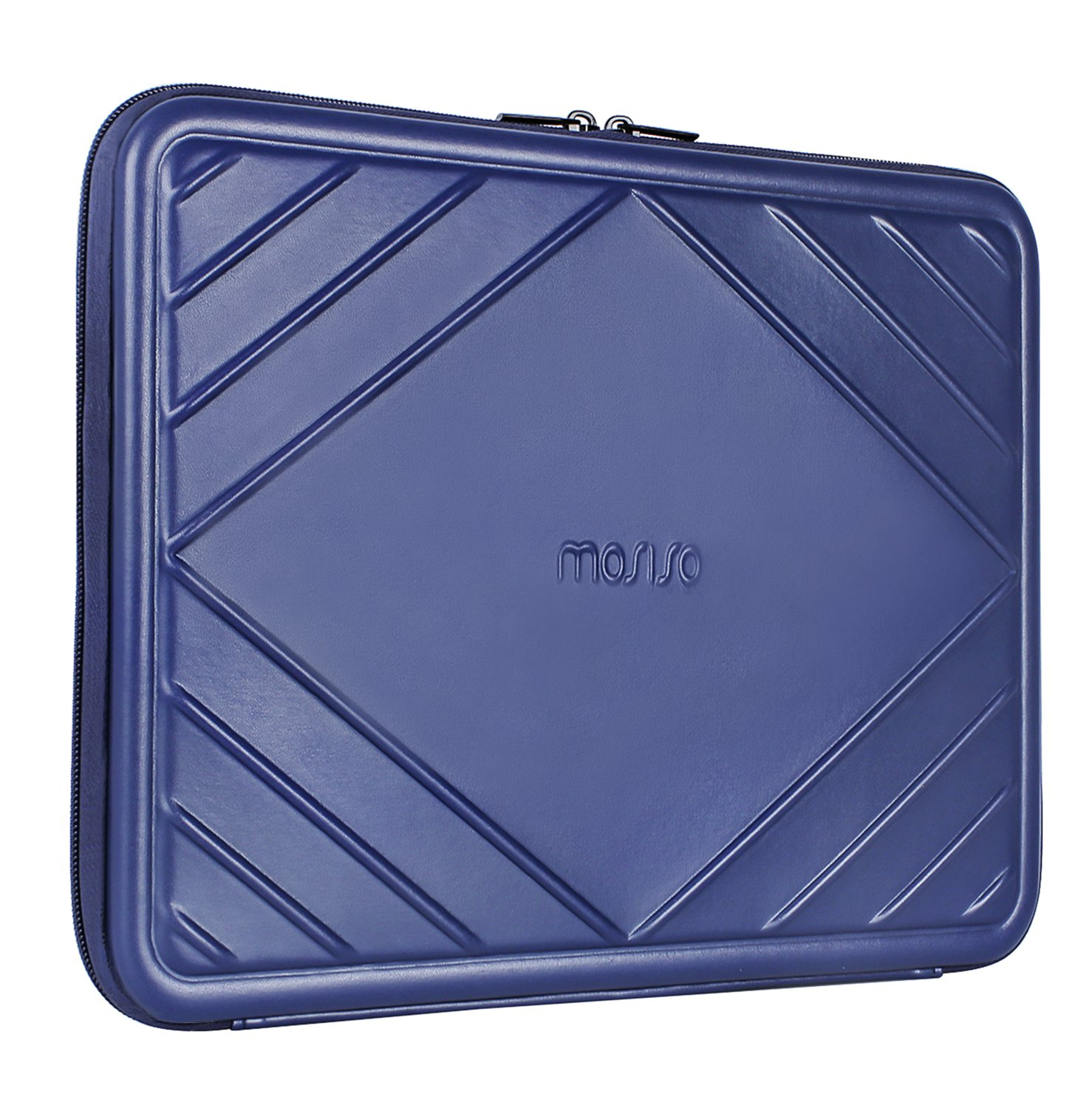 3a451ced1ecb MOSISO EVA with Premium PU Leather Hard Shell Laptop Sleeve Bag Compatible  13-13.3 Inch MacBook Pro ...