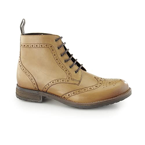 ad407117 CATESBY SHOEMAKERS ROXTON Mens Leather Brogue Derby Boots Tan UK 11 ...