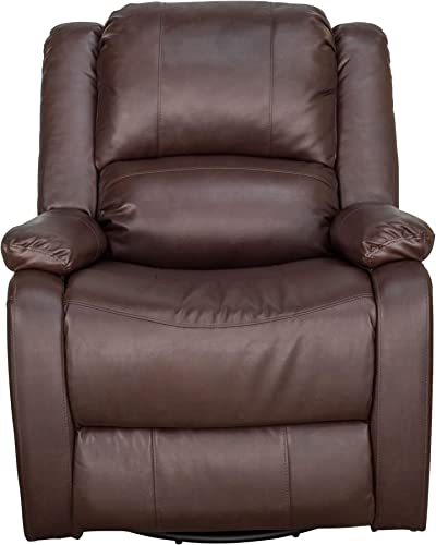 Charles Ashton Home Collection 30 Swivel Glider Recliner Space Saving Design for Apartment Classic Style Recliner Single Recliner Perfect for Tiny Home or Dorm Mahogany