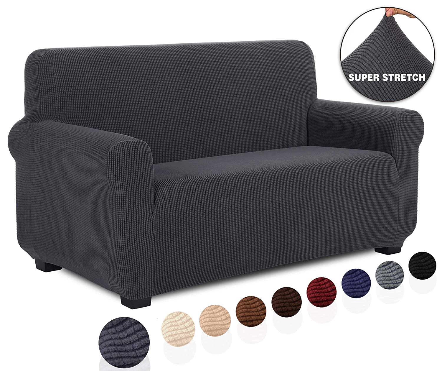 Enjoyable Tianshu Loveseat Slipcover Furniture Protector Non Slip 2 Cushion Couch Covers For Dogs Soft Durable Stay In Place Sofa Cover Loveseat Gray Pabps2019 Chair Design Images Pabps2019Com