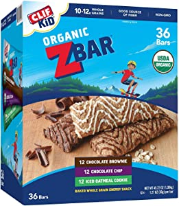CLIF KID ZBAR - Organic Energy Bar - Variety Pack,1.27 Ounce Snack Bar,