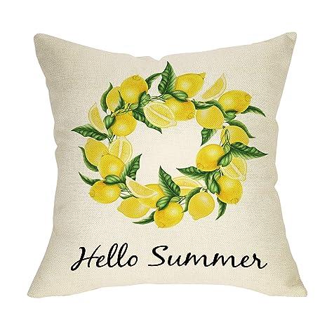 Amazon.com: Pycat - Funda de almohada de verano para sofá ...