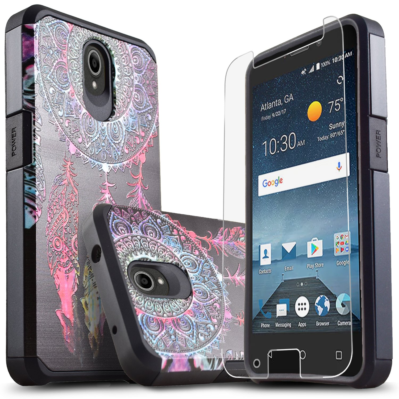 huge discount ed7a0 64871 Star Shock Absorption Cases Compatible for ZTE Maven 3/ZTE Overture 3/ZTE  Zfive 2/ZTE Prestige 2/ZTE Maven 2/ZTE Sonata 3 Phone [Premium Screen ...
