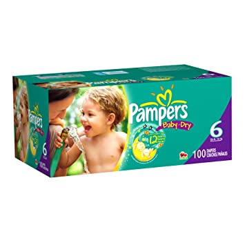d1cd5c36de6 Image Unavailable. Image not available for. Color  Pampers Baby Dry Diapers  Size 6 Giant Pack ...