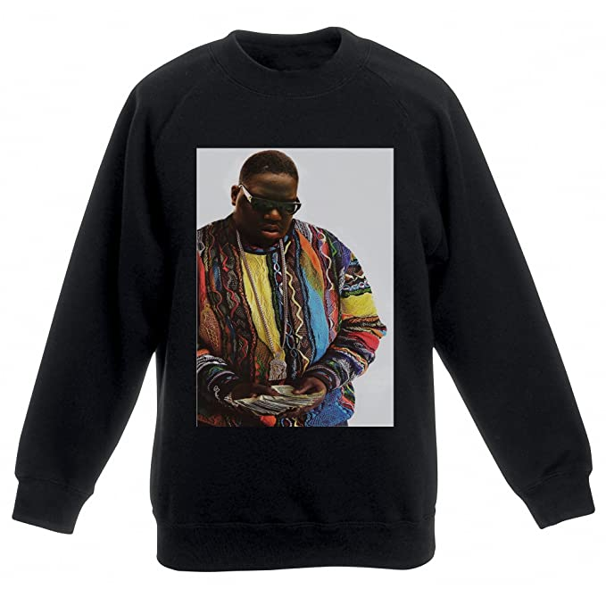 Actual Fact Biggie Supreme Color Dinero Notorious Big Negro Sudadera Top: Amazon.es: Ropa y accesorios