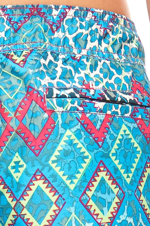 Chiemsee Kurze Damen-Boardshort Ethno-Look Surf-Shorts Strandhose Badehose Sommer T/ürkis