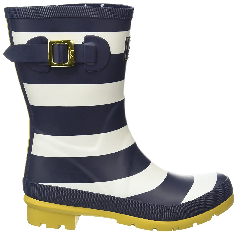 Joules Women's Molly Welly Rain Boot B07CX6W2K4 Women's 5|Navy Wide Stripe Rubber