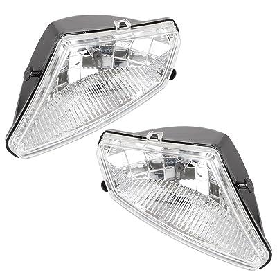 Caltric Left And Right Headlight W/Bulb for Polaris Sportsman 500 Ho Efi 2005 2006-2010: Automotive