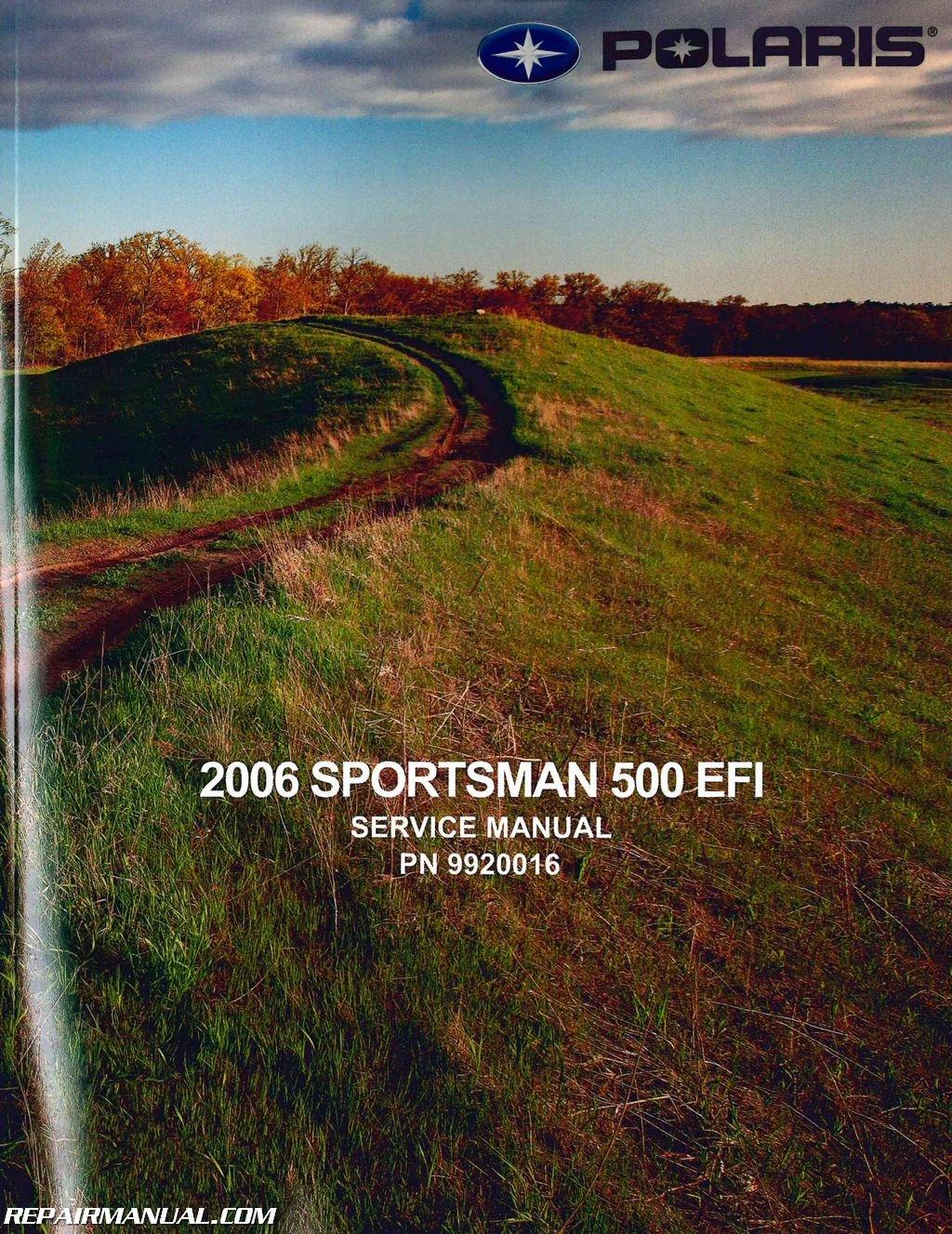 9920016 2006 polaris sportsman 500 efi atv service repair manual rh amazon com owners manual polaris sportsman 500 2003 polaris sportsman 500 service manual pdf