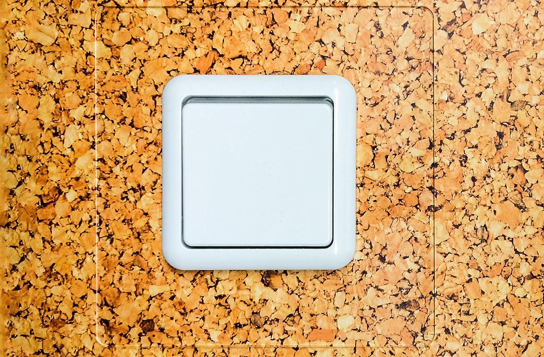 ... 4 secciones para proteger y embellecer enchufes de pared, interruptores, protección de superficies y papel pintado: Amazon.es: Bricolaje y herramientas