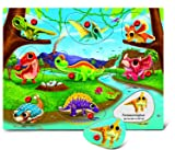 Puzzled Dinosaur Land Wooden Peg Puzzle (9 Piece)