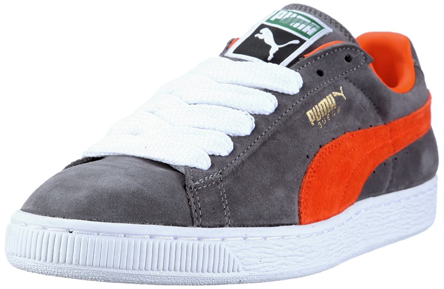 Puma Suede Classic+, Herren High-Top Sneaker  37 EU|Grau (Steel Grey-vermillion Orange 28)