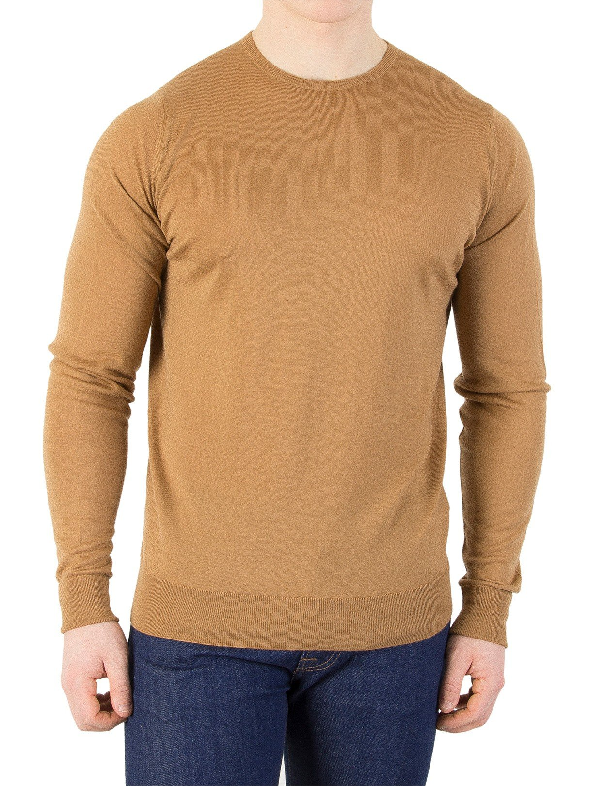John Smedley Men's Marcus Knit, Brown, XX-Large