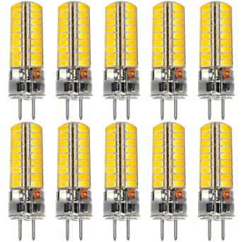 MENGS® 10 Stück GY6.35 6W LED Lampe 72x5730 SMD Warmweiß 3000K AC/DC 12V Mit Silikon Mantel