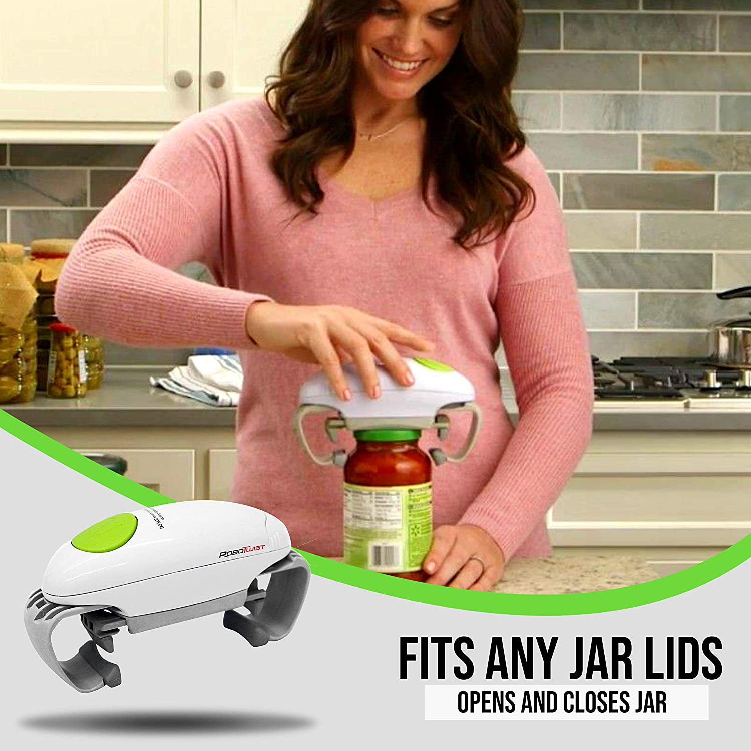 Robotwist Deluxe 7321 Automatic Jar Opener As Seen Higher Torque for Improved Jar Opening Performance On TV