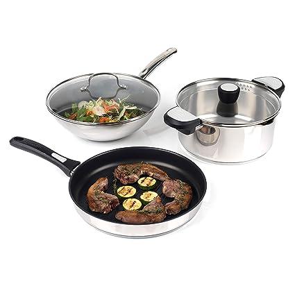 Thomas COMBO-3171 Rosenthal - Cacerola para Cocina (Acero Inoxidable ...