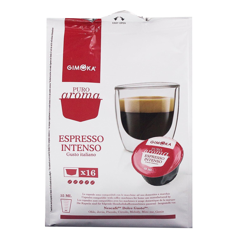 Gimoka Puro Aroma Espresso Intenso, Gusto Italiano, Café, Cápsulas de Café Nescafé Dolce Gusto Compatible, Rojo, 16 Cápsulas: Amazon.es: Hogar