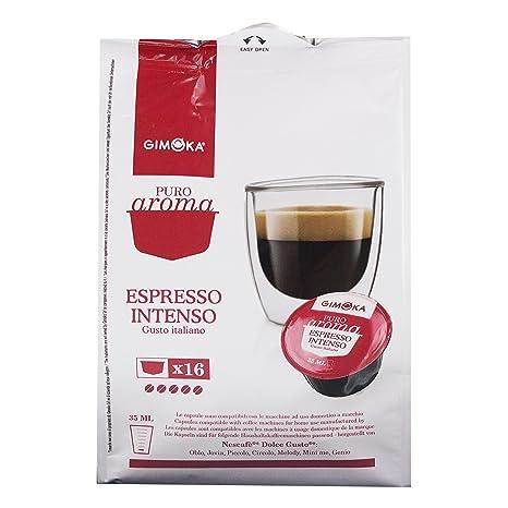 Gimoka Puro Aroma Espresso Intenso, Gusto Italiano, Café, Cápsulas de Café Nescafé Dolce